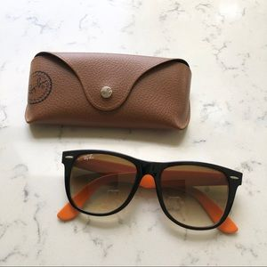 Ray Ban Wayfarer Black and Orange Sunglasses